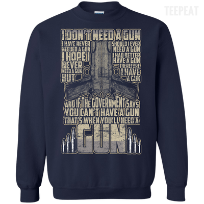 I Don't Need a Gun Tee-Apparel-TEEPEAT