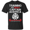 Training to beat Captain America Tee
