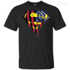 Superman US Flag Men And Women Dark Tee-Apparel-TEEPEAT