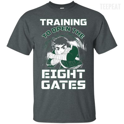 Rock Lee Training Eight Gates Tee-Apparel-TEEPEAT
