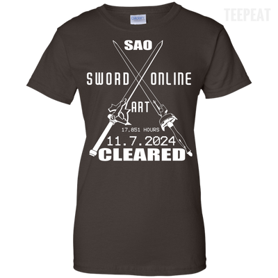 Sword Art Online Cleared Ladies Tee-Apparel-TEEPEAT