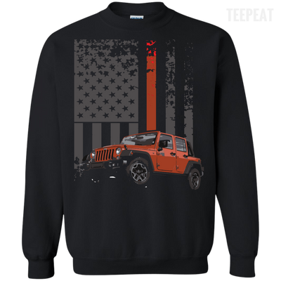 USA Flag Jeep Tee-Apparel-TEEPEAT