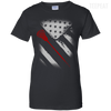 USA Flag Lacross Ladies Tee-Apparel-TEEPEAT