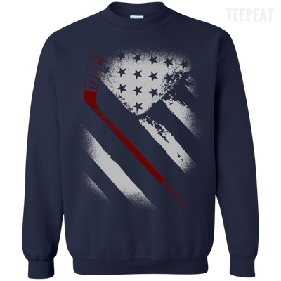 USA Flag Hockey Tee-Apparel-TEEPEAT