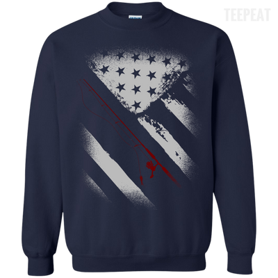 USA Flag Fishing Tee-Apparel-TEEPEAT