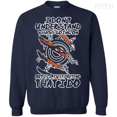 Printed Crewneck Pullover Sweatshirt 8 oz-Apparel-TEEPEAT