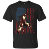 Iron Man US Flag Tee-Apparel-TEEPEAT