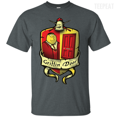 Griffin Door Dark Tee-Apparel-TEEPEAT