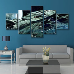 Falcon Painting - 5 Piece Canvas