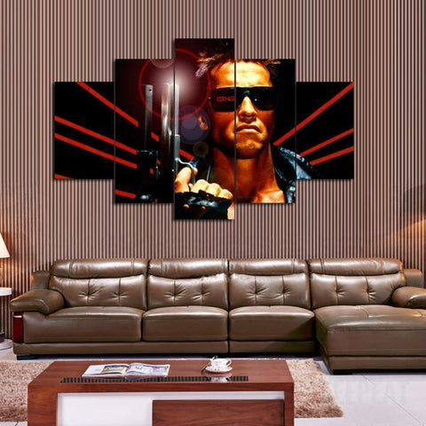 Terminator 5 Piece Canvas LIMITED EDITION - The Nerd Cave - 2
