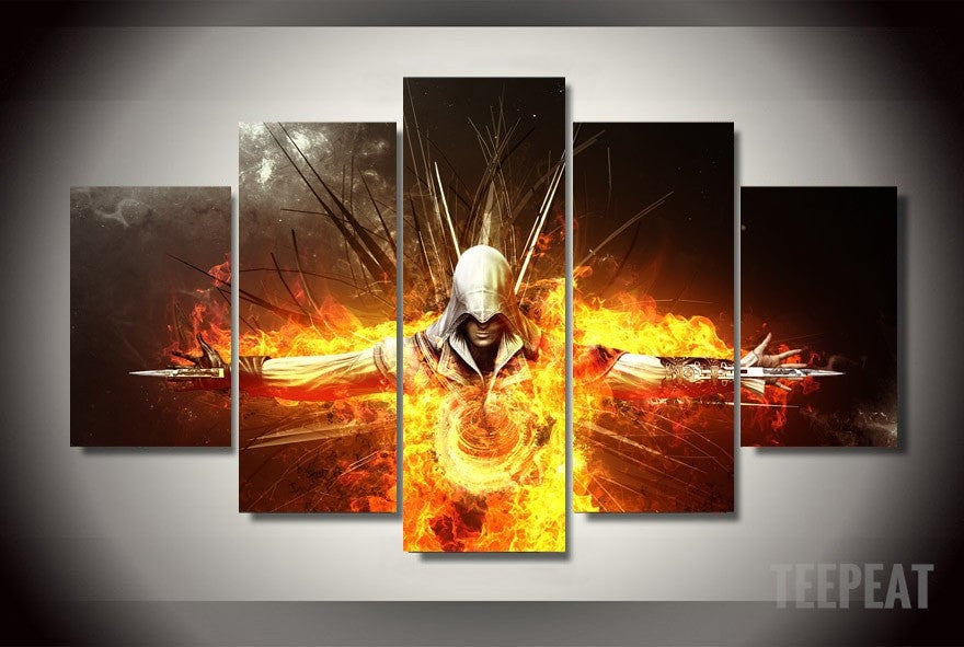 Ezio Auditore - 5 Piece Canvas LIMITED EDITION-Canvas-TEEPEAT