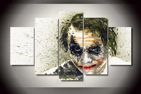 Printed Joker - 5 Piece Canvas LIMITED EDITION-Canvas-TEEPEAT