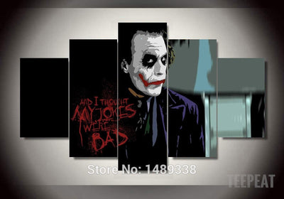 Joker Multiple Piece Canvas LIMITED EDITION - The Nerd Cave - 1