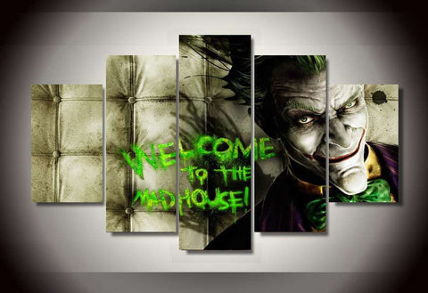 Welcome To The Mad House - 5 Piece Canvas-Canvas-TEEPEAT