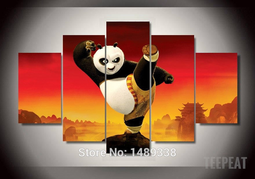 Kung Fu Panda Multiple Piece Canvas LIMITED EDITION - The Nerd Cave
