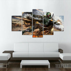 Hunter Painting - 5 Piece Canvas