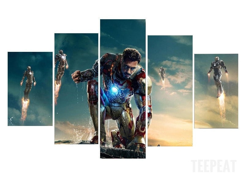 Iron man - 5 Piece Canvas LIMITED EDITION - The Nerd Cave - 2