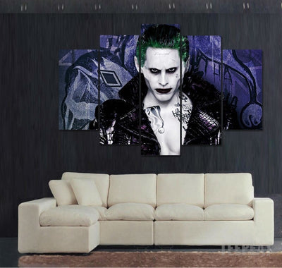 Suicide Squad Joker - 5 Piece Canvas Painting-Canvas-TEEPEAT