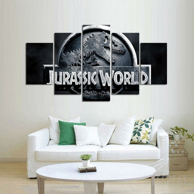 Jurassic Park - 5 Piece Canvas Painting-Canvas-TEEPEAT