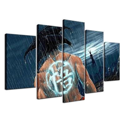 San Goku VS Bills God of Destruction - 5 Piece Canvas Painting