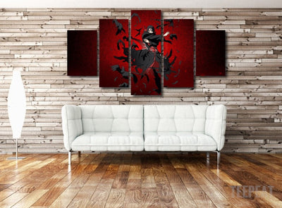Naruto - Uchiha Itachi 5 Piece Canvas LIMITED EDITION - The Nerd Cave - 4