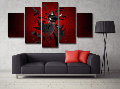 Naruto - Uchiha Itachi 5 Piece Canvas LIMITED EDITION - The Nerd Cave - 3