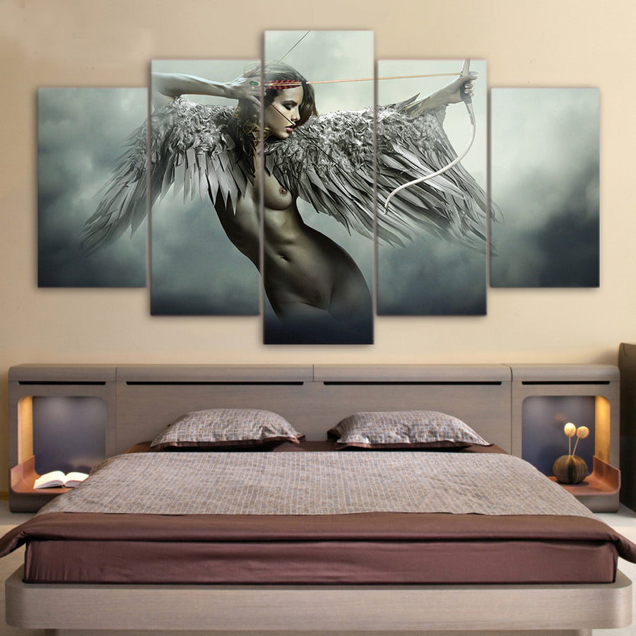 Warrior Angel of Fantasy - 5 Piece Painting