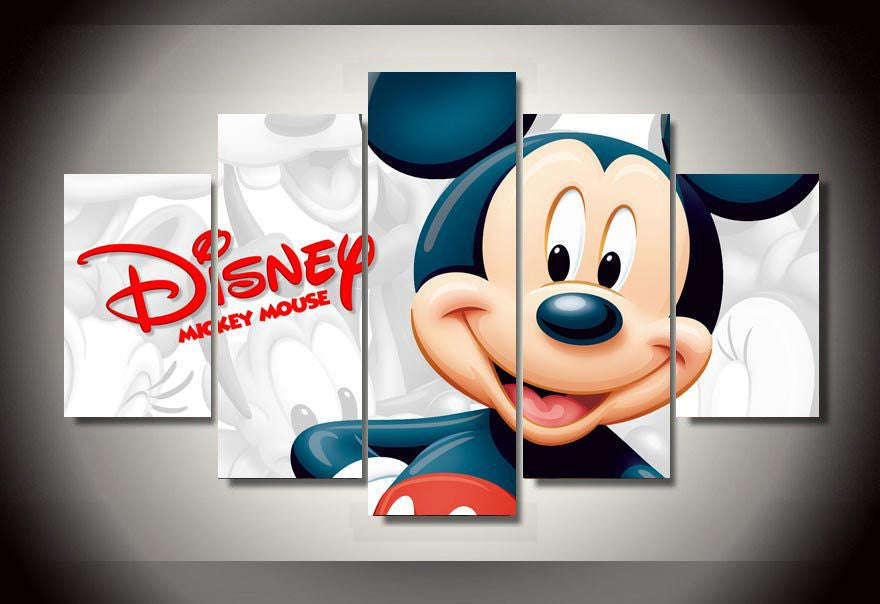 Mickey 5 Piece Canvas LIMITED EDITION - The Nerd Cave