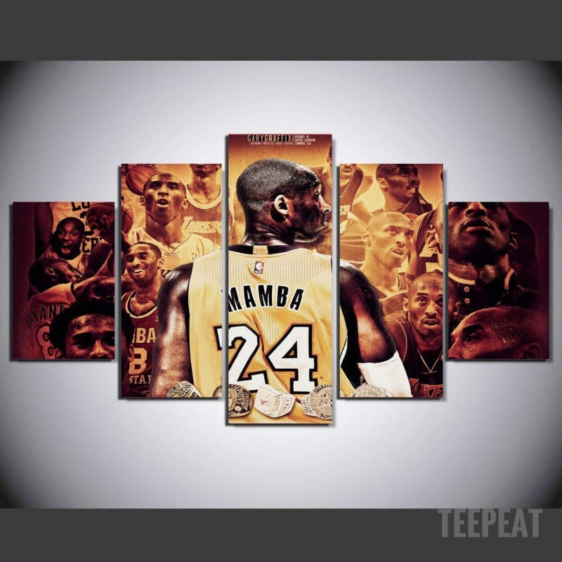 Mamba Painting - 5 Piece Canvas-Canvas-TEEPEAT