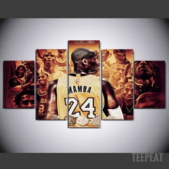 Mamba Painting - 5 Piece Canvas