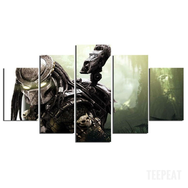 Predator Painting - 5 Piece Canvas-Canvas-TEEPEAT