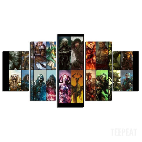 Planeswalkers Painting - 5 Piece Canvas-Canvas-TEEPEAT