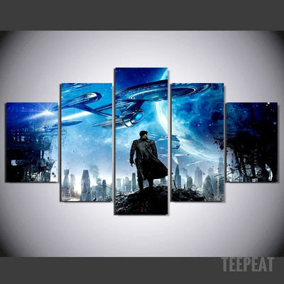 Khan Painting - 5 Piece Canvas-Canvas-TEEPEAT