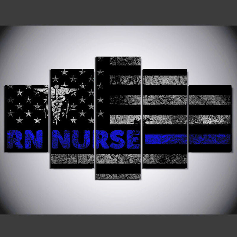 RN Nurse - Blue 5 Piece Canvas