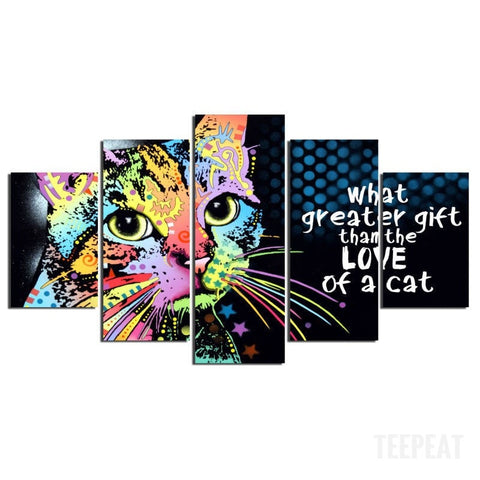 What Greater Gift - 5 Piece Canvas Painting-Canvas-TEEPEAT