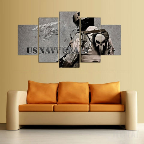 US Navy - 5 Piece Canvas Painting-Canvas-TEEPEAT