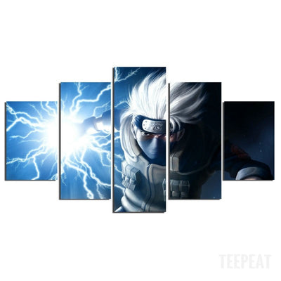 Kakashi Painting - 5 Piece Canvas-Canvas-TEEPEAT