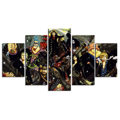 Straw Hat Pirates - 5 Piece Canvas Painting-Canvas-TEEPEAT