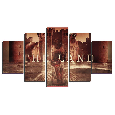 The Land Painting - 5 Piece Canvas-Canvas-TEEPEAT