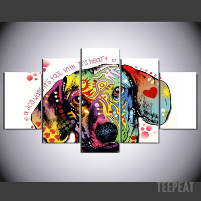 Teckel Painting - 5 Piece Canvas-Canvas-TEEPEAT