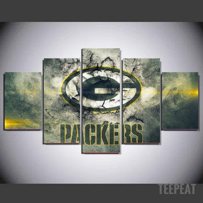 Packers Painting - 5 Piece Canvas-Canvas-TEEPEAT