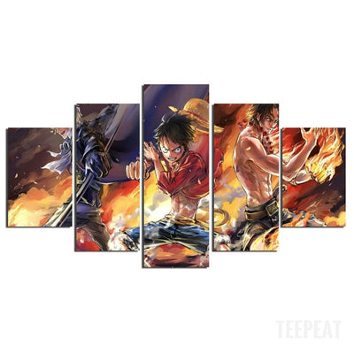 Monkey D Luffy Painting - 5 Piece Canvas-Canvas-TEEPEAT
