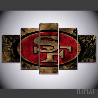 San Francisco Painting - 5 Piece Canvas-Canvas-TEEPEAT