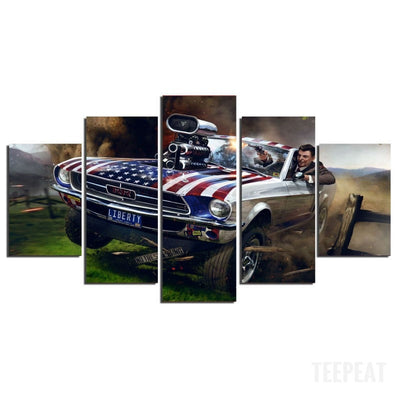 Ronald Reagan Painting - 5 Piece Canvas-Canvas-TEEPEAT