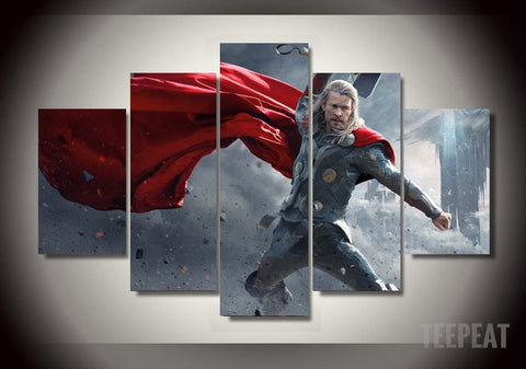 God of Thunder and Lightning - 5 Piece Canvas LIMITED EDITION-Canvas-TEEPEAT