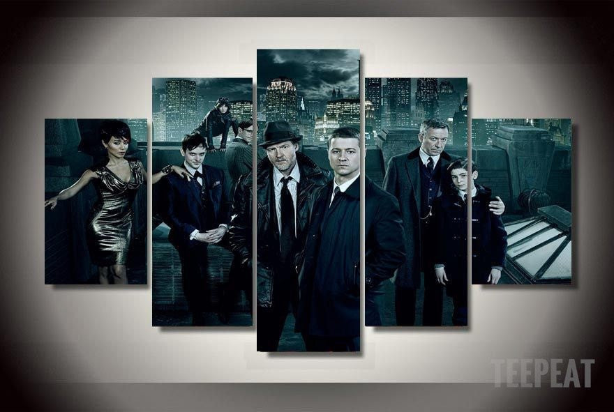 Gotham - 5 Piece Canvas LIMITED EDITION - The Nerd Cave