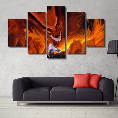 Nine Tails -  5 Piece Canvas LIMITED EDITION - The Nerd Cave - 4