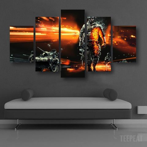 Modern Soldier - 5 Piece Canvas LIMITED EDITION - The Nerd Cave - 3