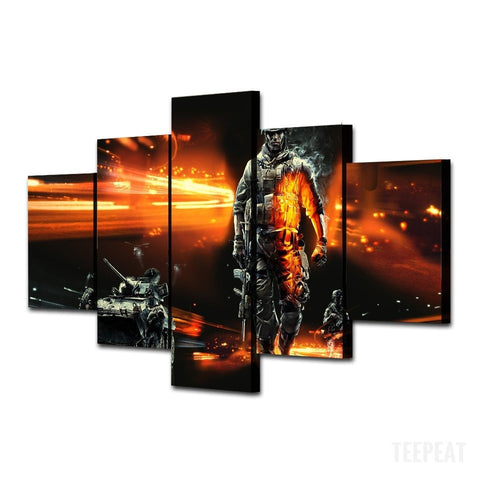 Modern Soldier - 5 Piece Canvas LIMITED EDITION - The Nerd Cave - 2