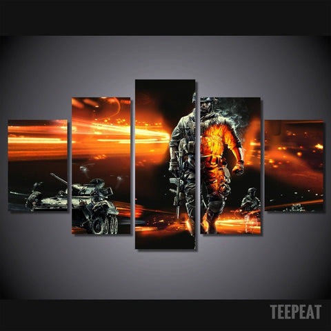 Modern Soldier - 5 Piece Canvas LIMITED EDITION - The Nerd Cave - 1